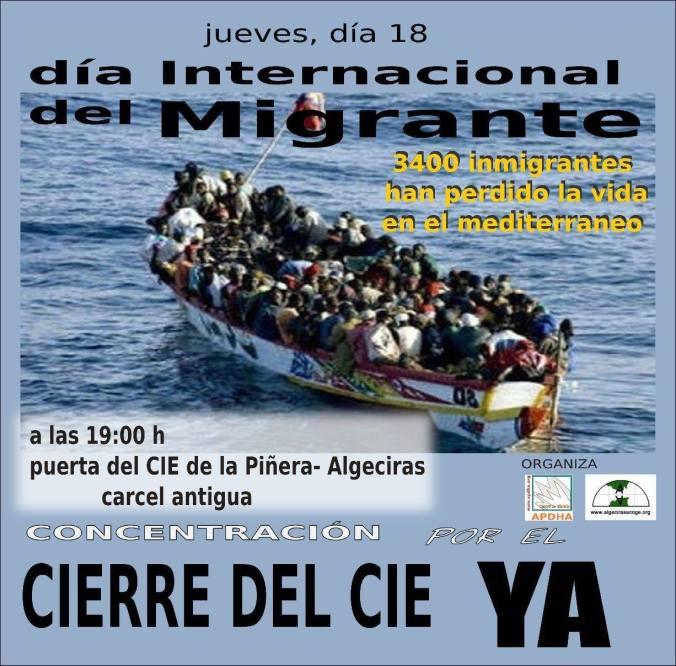 Manifestación Algeciras CIE