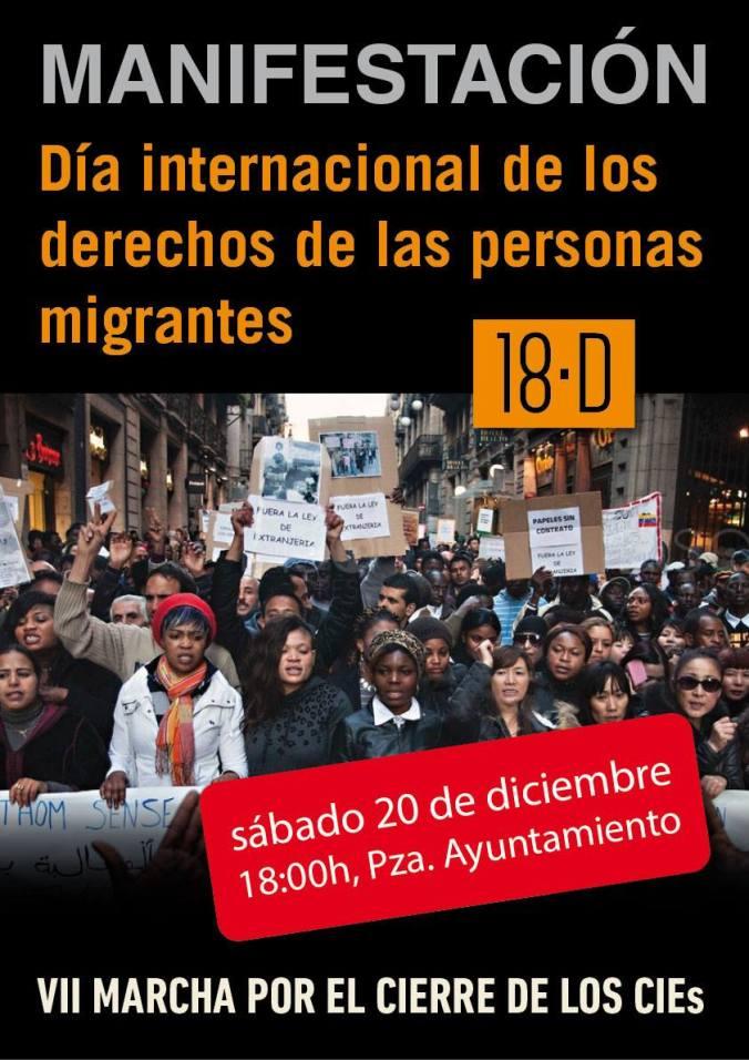 Manifestación Valencia CIE 20D