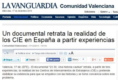 Noticia LaVanguardia 23 30 CIE